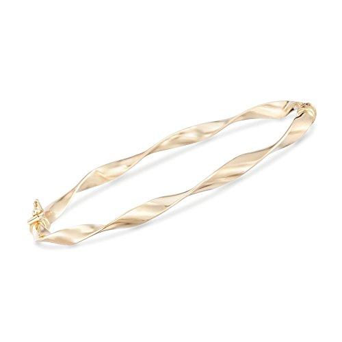 Ross-Simons Italian 14kt Yellow Gold Ribbon Bangle Bracelet