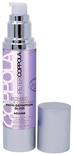 Peter Coppola: Blondest Color Command High Definition Brightening & Repairing Gloss with Azulene, 1.75oz (Best Heat Protectant For Blonde Hair)