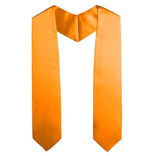 - OSBO GradSeason Unisex Adult Plain Graduation Stole for Academic Commencements, 60'' long (Orange)