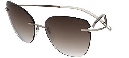 Silhouette Titan Minimal Art The Icon 8156 6236 Gold/Brown Sunglasses 68mm ()