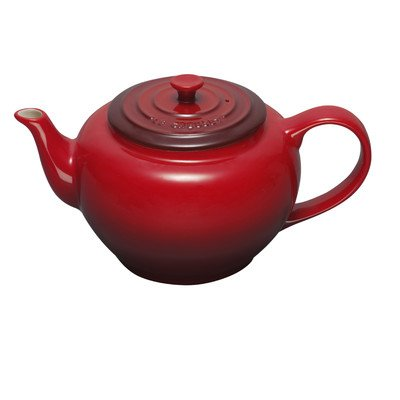 Le Creuset Stoneware Large Teapot with Stainless Steel Infuser,  Cerise (Cherry Red)