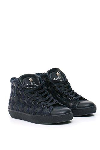 Montantes Cuir Leather Crown Femme Crown Leather Bleu MCBI185005O Baskets SwBxFwa
