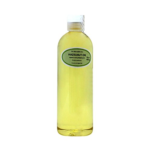 Hazelnut Oil Organic Pure Expeller Pressed by Dr.Adorable 16 Oz/1 (Hazelnut Pure Carrier Oil)