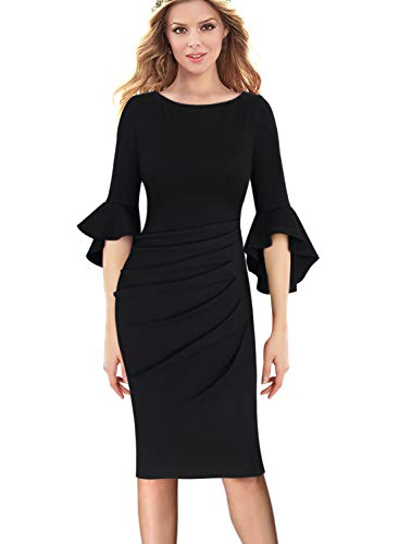 lace detail ruched dress - 7