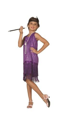 Sequin Flapper,Purple,Small 4-6 -