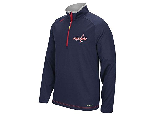 Youth Quarter Zip Pullover - Washington Capitals Youth Grinder Quarter-Zip Lightweight Pullover Jacket (Youth XL - 18)