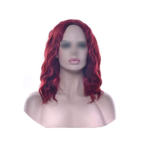 Carrie Short Wavy Black Blonde Wigs Synthetic Hair Hair Pieces Party Hair Red Gray Wig For Women,Bug,12Inches,France