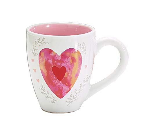 - Burton & Burton Mug 15 Oz Raised Heart