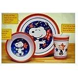 Peanuts 3 Piece Dinnerware Set, Snoopy - Americana
