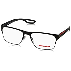 Prada PS52GV Eyeglass Frames DG01O1-57 - Black Rubber