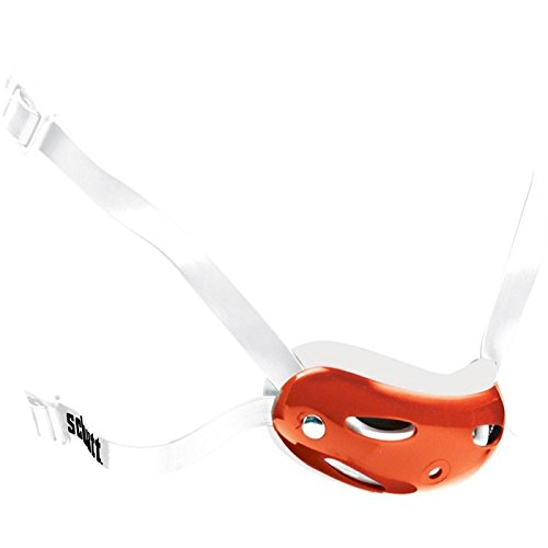 Schutt Sports High Hook Up Deep Cup Football Helmet Chin Guard with Strap, Burnt Orange/White, 4-Point