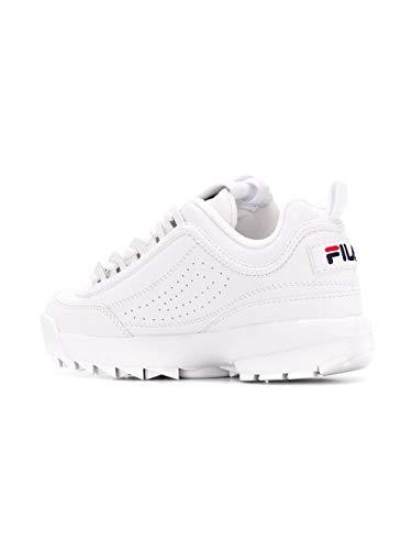 Blanco Zapatillas Cuero Fila Mujer 10103021fg PBZHxUwq7