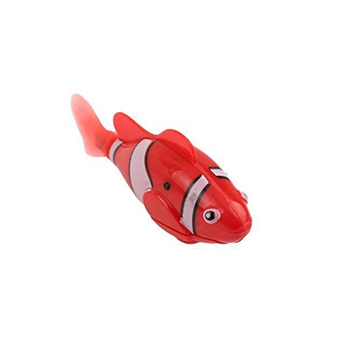 Catnew Fashion Swimming Electric Swim Robot Fish Activated Battery Powered Kids Children Bath Toy (Red)