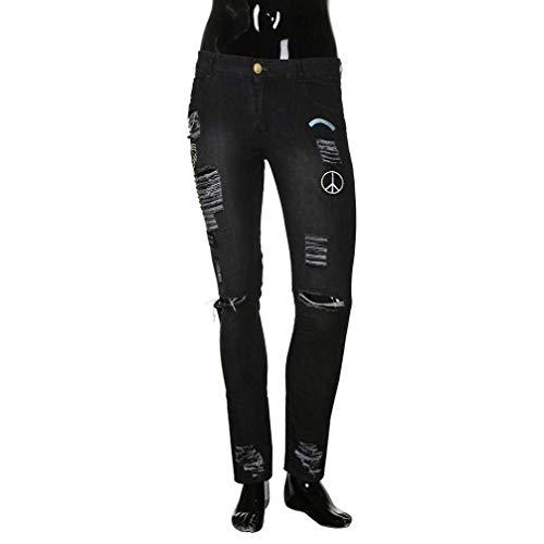 Su Denim Sfilacciati Mutanda Jeans Base Skinny Zipper Estilo Degli Uomini Comodi Offre Nero Especial Stirata Di Pantaloni IIvR1wq