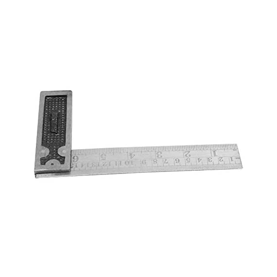 """Tools-4-All Metal/Wood Montstar Metal Try Square, 6"""" (Multicolor) 2"""
