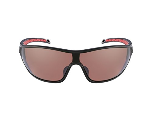 Adidas A191 6051 Black and Red Tycane L Wrap Sunglasses Polarised Cricket, Cycl by adidas
