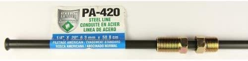 PA420 Poly-Armour Domestic PVF Steel Brake Line 1//4 x 20