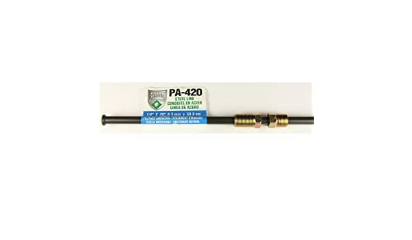 Poly-Armour Domestic PVF Steel Brake Line 1//4 x 20 PA420