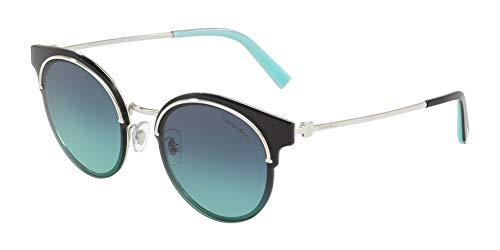 TIFFANY & CO. TF 3061-60019S Sunglasses Silver w/Azure Gradient Lens ()