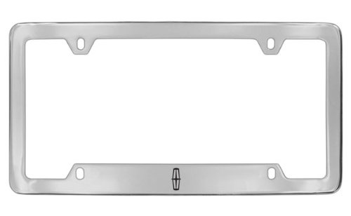 Lincoln Logo Chrome Plated Metal Bottom Engraved License Plate Frame Holder