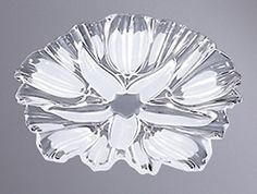 Vintage Walther-Glas Sylvia Clear Crystal With Frosted Flower Pattern 12 1/2