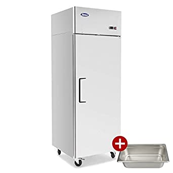 Commercial Refrigerator,ATOSA MBF8004 Single 1-DoorTop Mount Stainless Steel Reach in Commercial Refrigerators combo for Restaurant kitchen 22.6 cu.ft.33℉-38℉