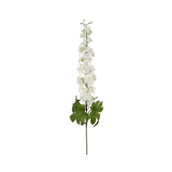 40″ Delphinium Spray w/26 Flw. 6 Buds Cream (Pack of 12)