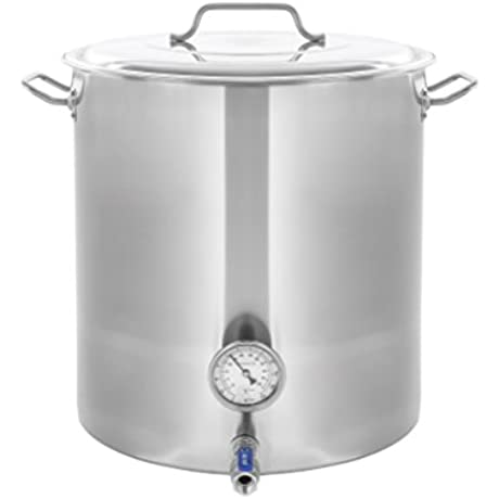 CONCORD Stainless Steel Home Brew Kettle Stock Pot Weldless Fittings 100 QT 25 Gal