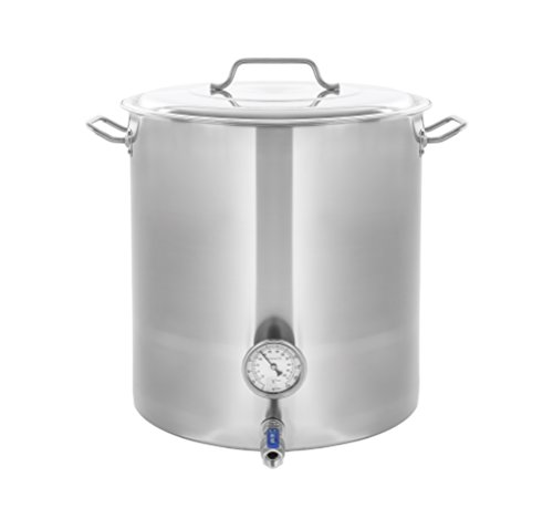 CONCORD Stainless Steel Home Brew Kettle Stock Pot (Weldless Fittings) (100 QT/ 25 Gal) by Concord Cookware