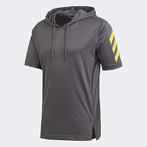adidas Men's 35355 Sport Short Sleeve Hoodie, Grey, Small by adidas