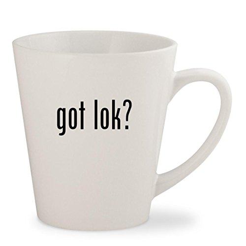 Got Lok    White 12Oz Ceramic Latte Mug Cup