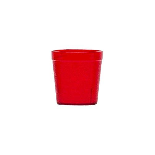 Red Colorware Tumbler - Cambro Colorware Short Ruby Red 9 oz Tumbler