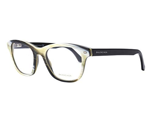 Balenciaga BA5011/V 064 Yellow Black Horn Square prescription-eyewear-frames