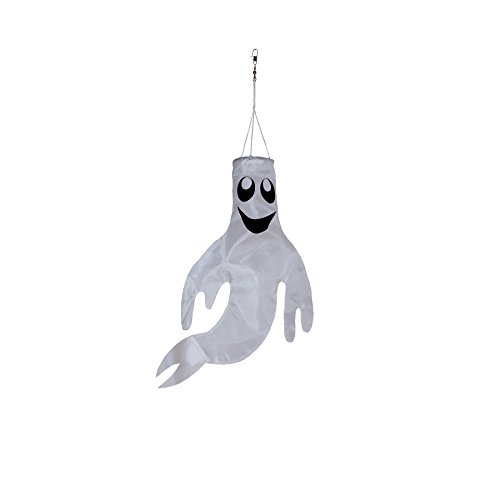 In the Breeze Small 18 inch Ghost Windsock Halloween Hanging -
