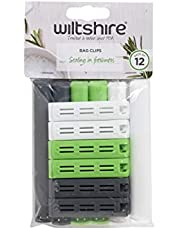 Wiltshire Bag Clips Pack of 12, Assorted Sizes