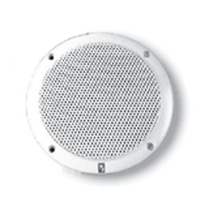 Poly-Planar MA-4055W 5-Inch Round Flush-Mount Marine Speakers, White (Pair) (5 Ceiling Speakers Outdoor Inch)