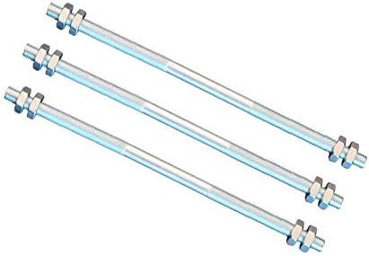 derecha e izquierda Varilla roscada M8 4 tuercas FKAnh/ängerteile rosca 500 mm
