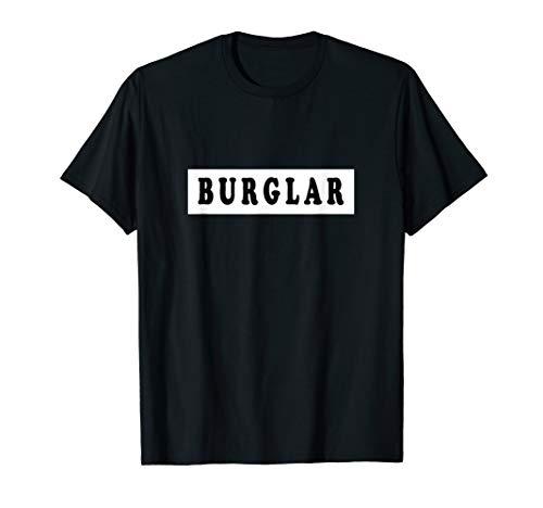 Burglar Costume T Shirt | Funny Halloween Robber Shirt]()