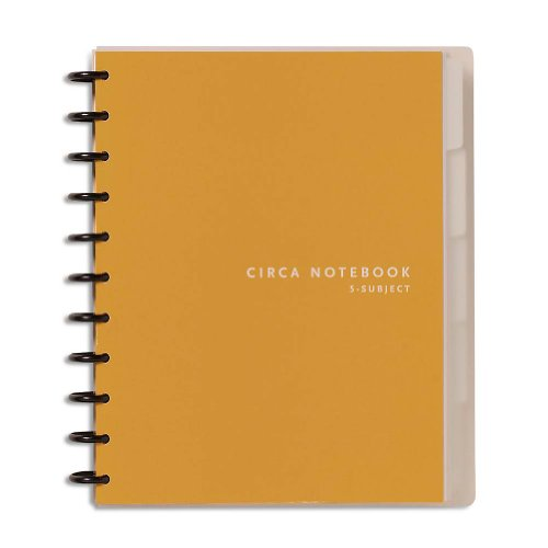 Levenger Circa 5-Subject 1/4-Inch Ruled Notebook - Letter (ADS6180 NM)