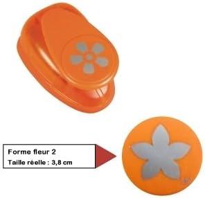 Plastica 1,6cm- 5//8 Zoll 5//8/Pollici Ideale per Carta//cartoncino Fino a 200/G//M/² RAYHER Motivstanzer Fiore /Ø 1,6/cm Orange