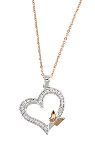 Diamond Pendant In 14K White,