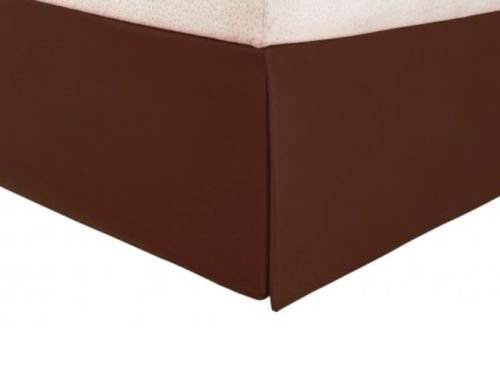 Tailored Bed Skirt Solid Dust Ruffle Twin Size / Chocolate -
