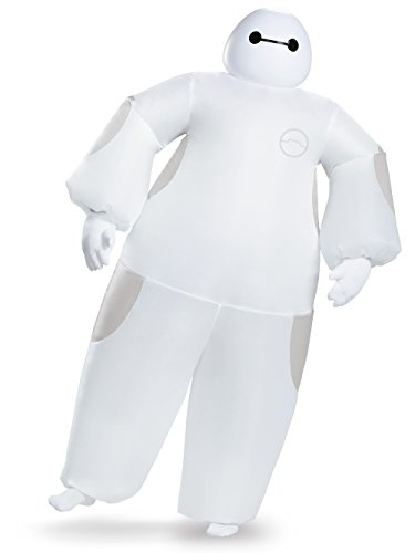 Disguise Men's White Baymax Inflatable Adult Costume, White, One -