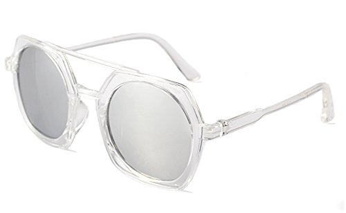 Rodeo Ox2 Round Wayfarer Style Sunglasses W/ Carry Pouch (Clear, - Percription Sunglasses