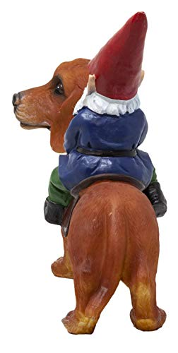 Funny Guy Mugs Gnome and a Dachshund Garden Gnome Statue- Indoor/Outdoor Garden Gnome Sculpture for Patio, Yard or Lawn by Funny Guy Mugs (Image #3)