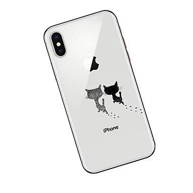 Fundas y estuches para teléfonos móviles, Funda Para Apple iPhone X iPhone 8 Plus con Soporte Funda Trasera Gato Suave TPU para iPhone X iPhone 8 Plus iPhone 8 iPhone 7 Plus ( Modelos Compatibles : IP IPhone X