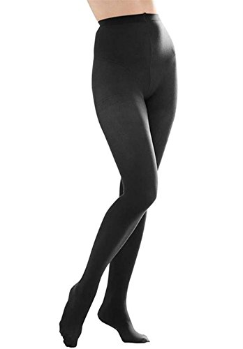 Butterfly Hosiery Women's Ladies Plus Size Queen Opaque Footed Tights Fashion Stockings Black 3X