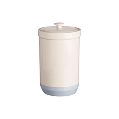 Mason Cash Bakewell Stoneware Coffee and Flour Jar, 143-Fluid Ounces, Cream, Blue
