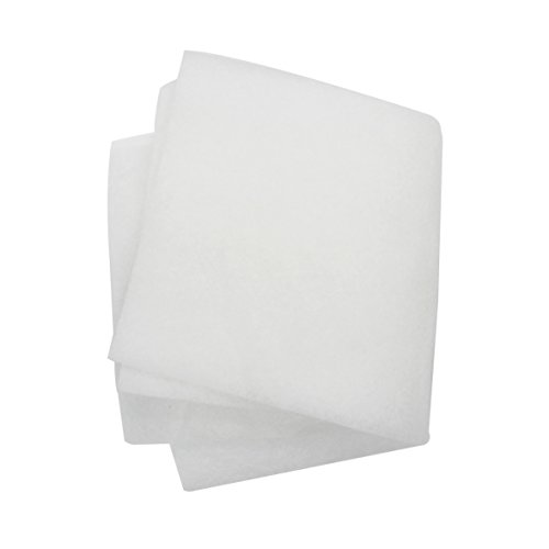 5Pcs Bonded Poly Filter Floss Pads For Ponds and Aquariums (white) (20〃 x 10〃x 0.39〃)