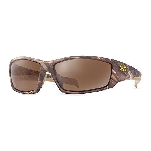 Price comparison product image RealTree Trapline Max-5 Polarized Sunglasses (Brown Camo with Brown Lens)